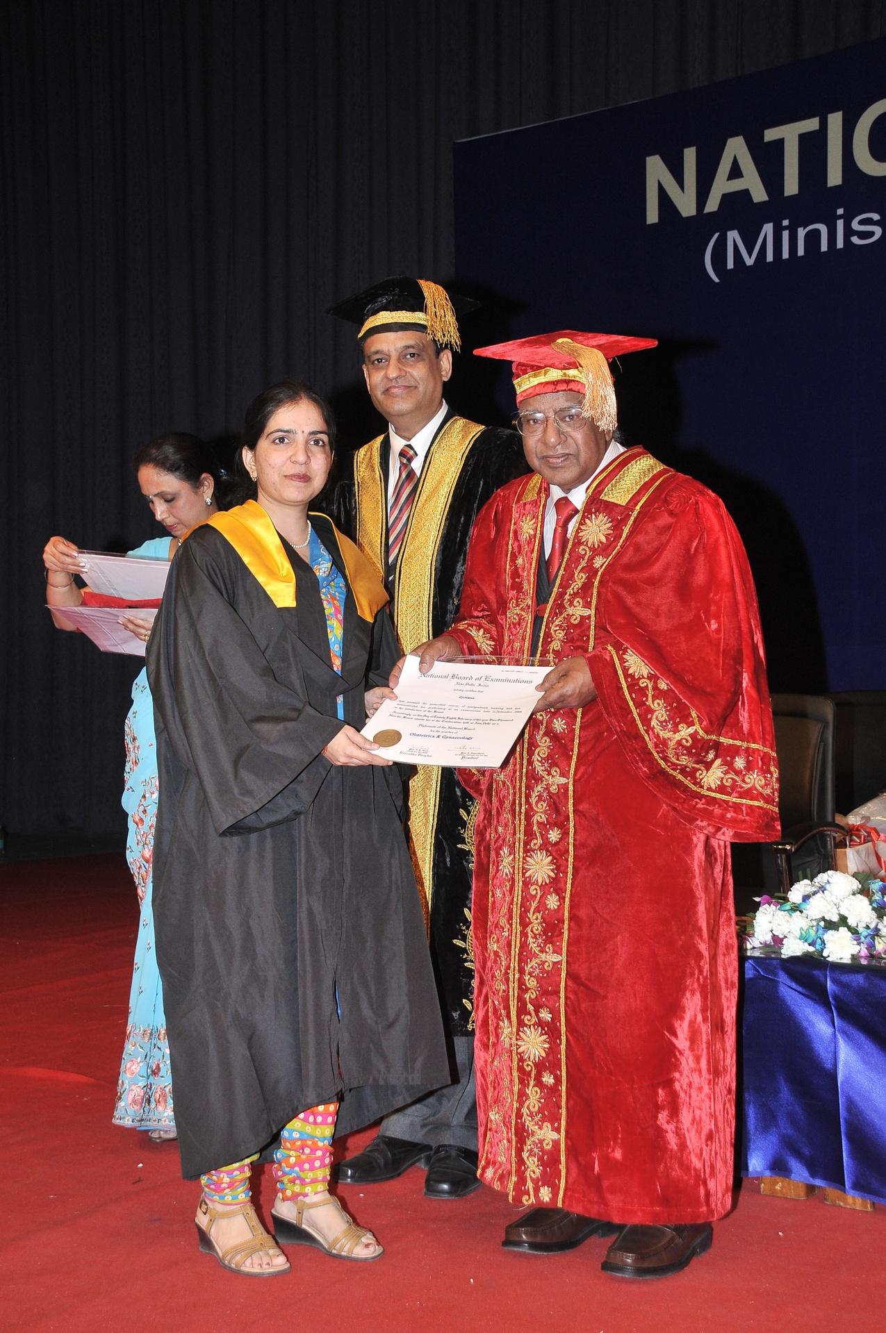 Receiving Post Graduate Degree